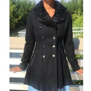 Guess Double Breasted Peacoat